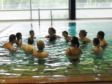 Die Unterstufe beim Schwimmen_